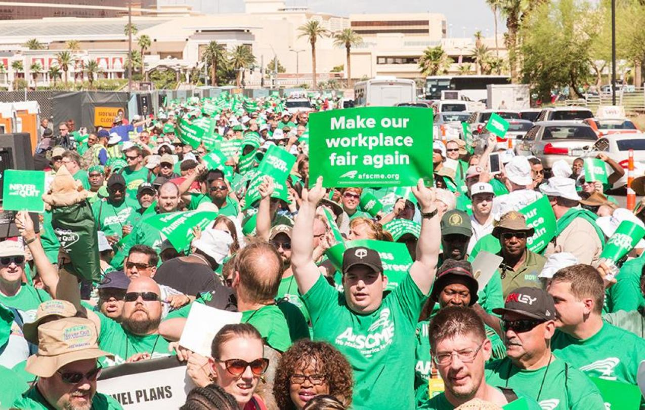 AFSCME members at a rally in Las Vegas