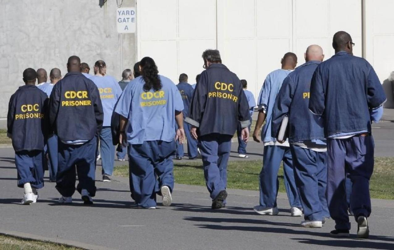 Inmates at a California prison. (Photo by Rich Pedroncelli/AP)