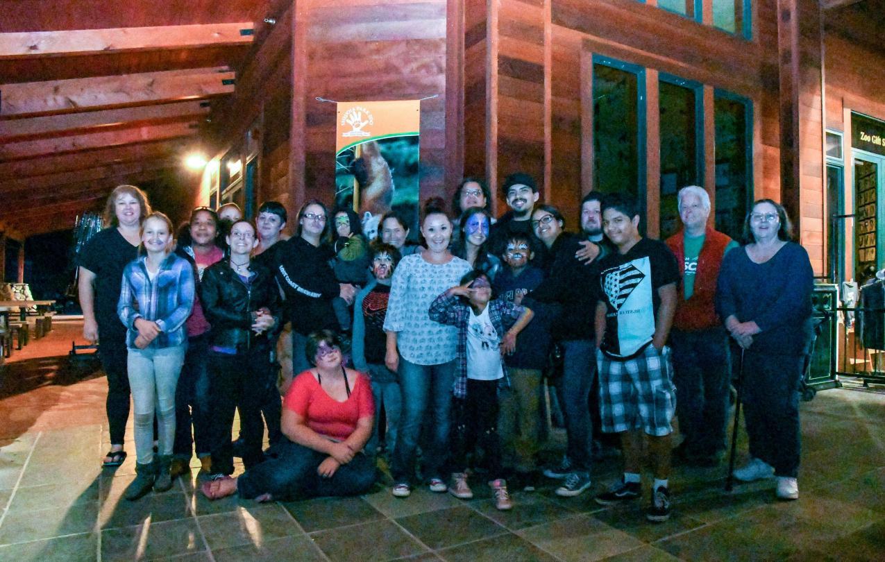 Local 1684 members at their annual Zoo Night in Eureka.