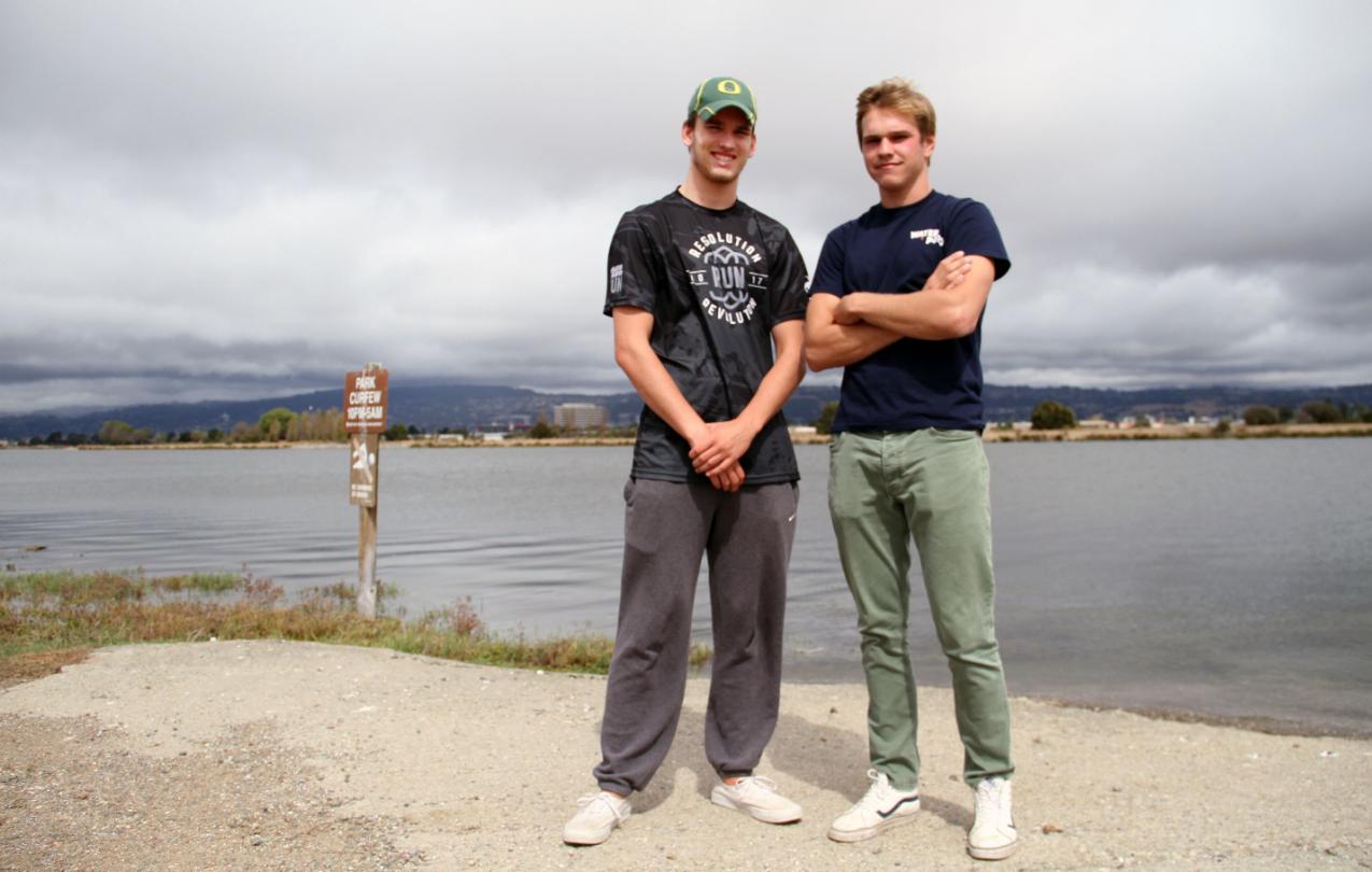 Lifeguards Adam Fishbaugh and Jack Davis, members of AFSCME Local 2428
