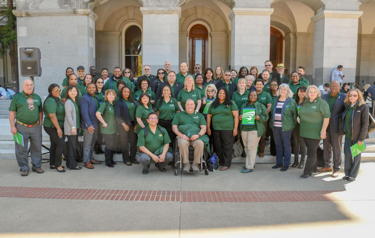AFSCME Local 2620 members at their 2019 Lobby Days
