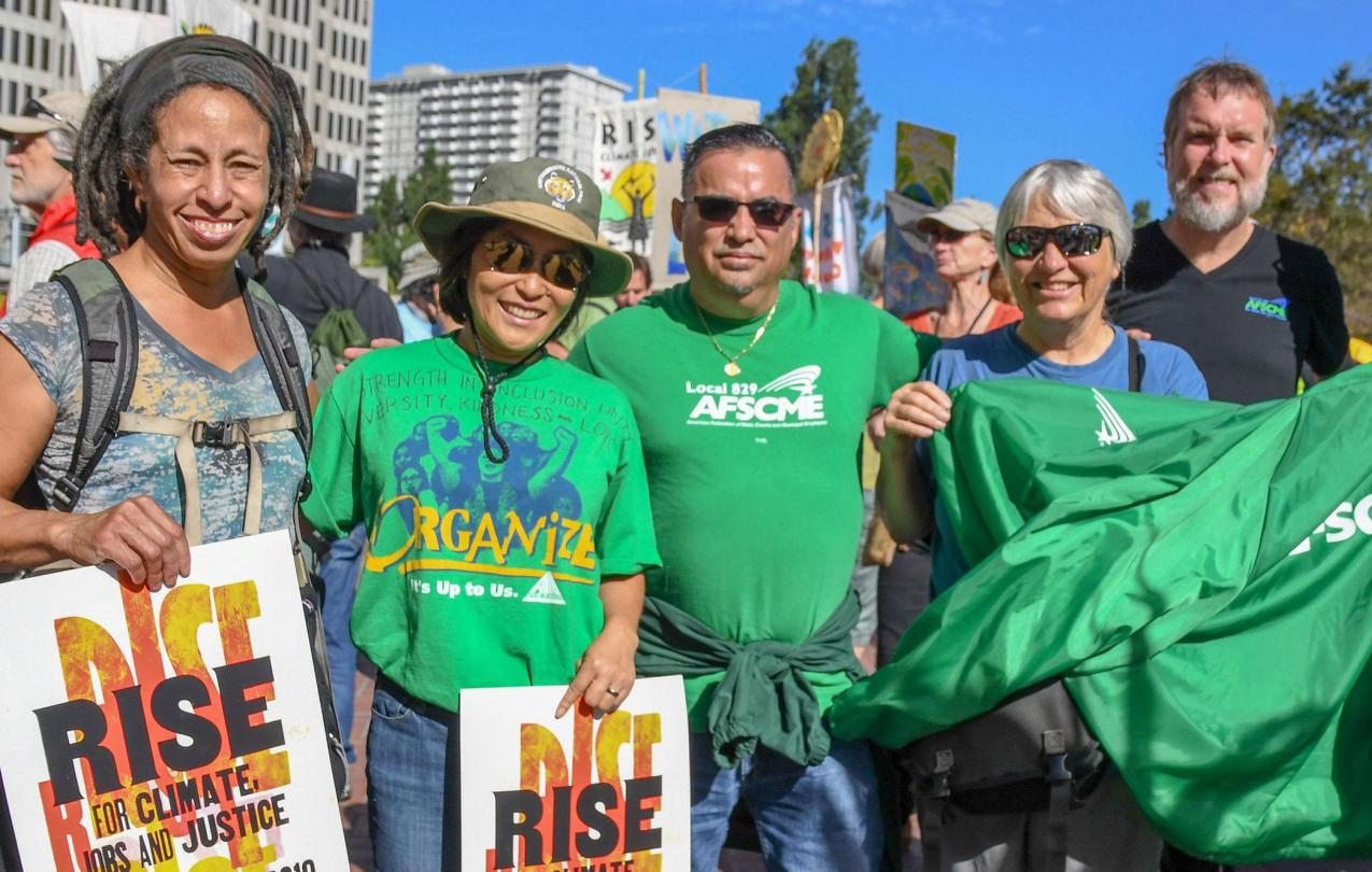 Charles Allen with Council 57 board member Eri Glans-Suzuki and former board members Felipe Donaire and Sharon Corkin at the Rise for Climate March in San Francisco.