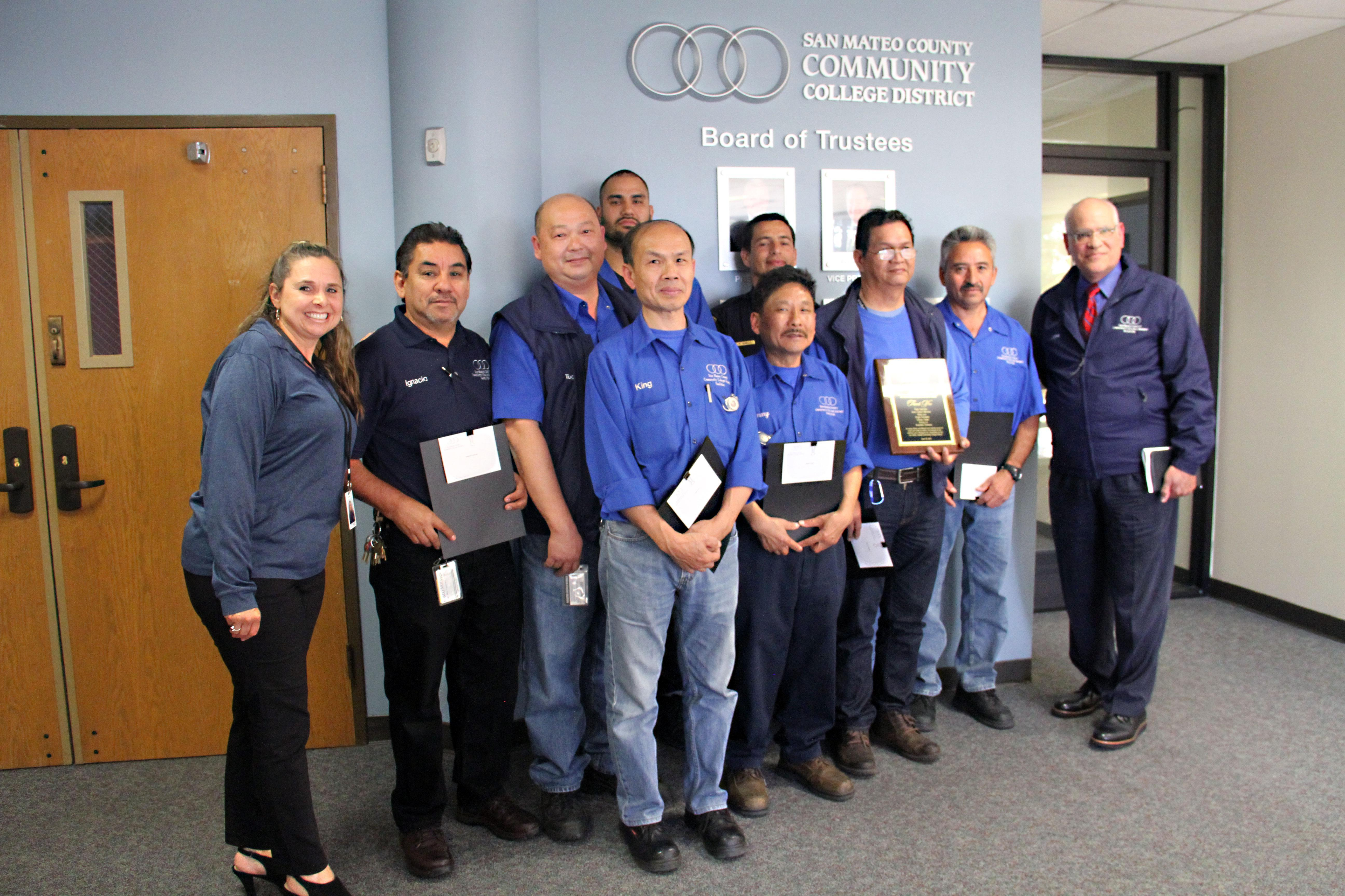 The San Mateo County Community College District Board recognized the Local 829 members at the June 14, 2017, meeting.