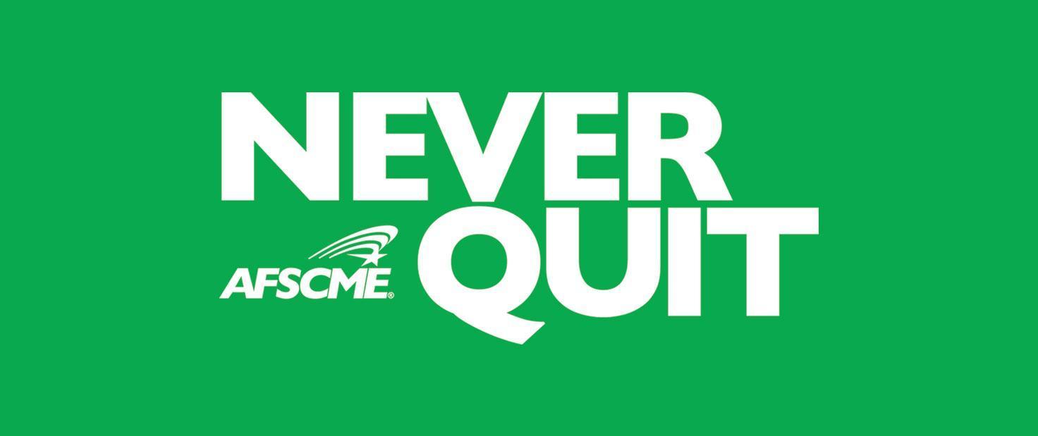 AFSCME Never Quit logo