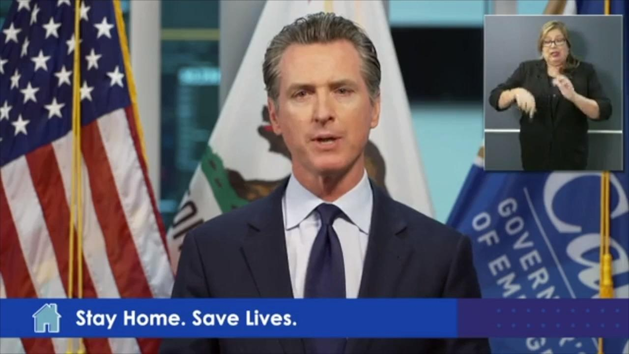Gov. Gavin Newsom makes an announcement about workers' comp for coronavirus claims