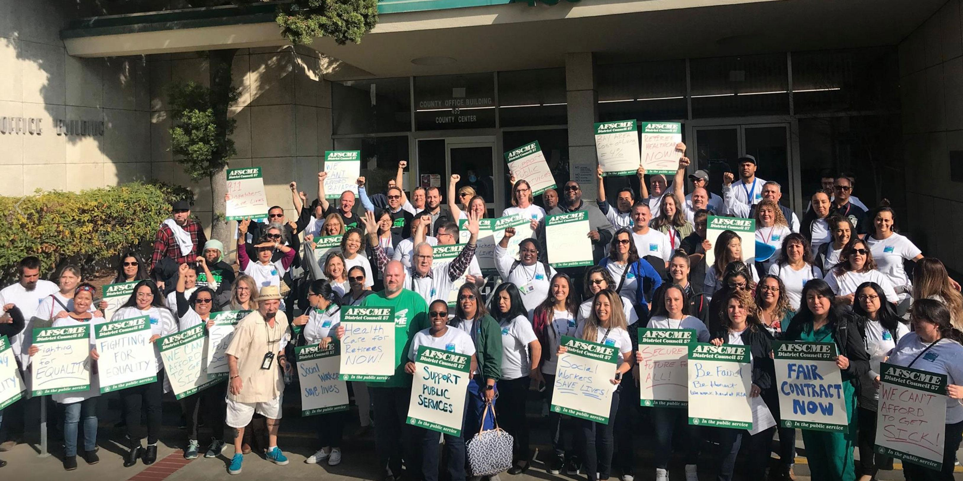 San Mateo County workers rally for a fair contract
