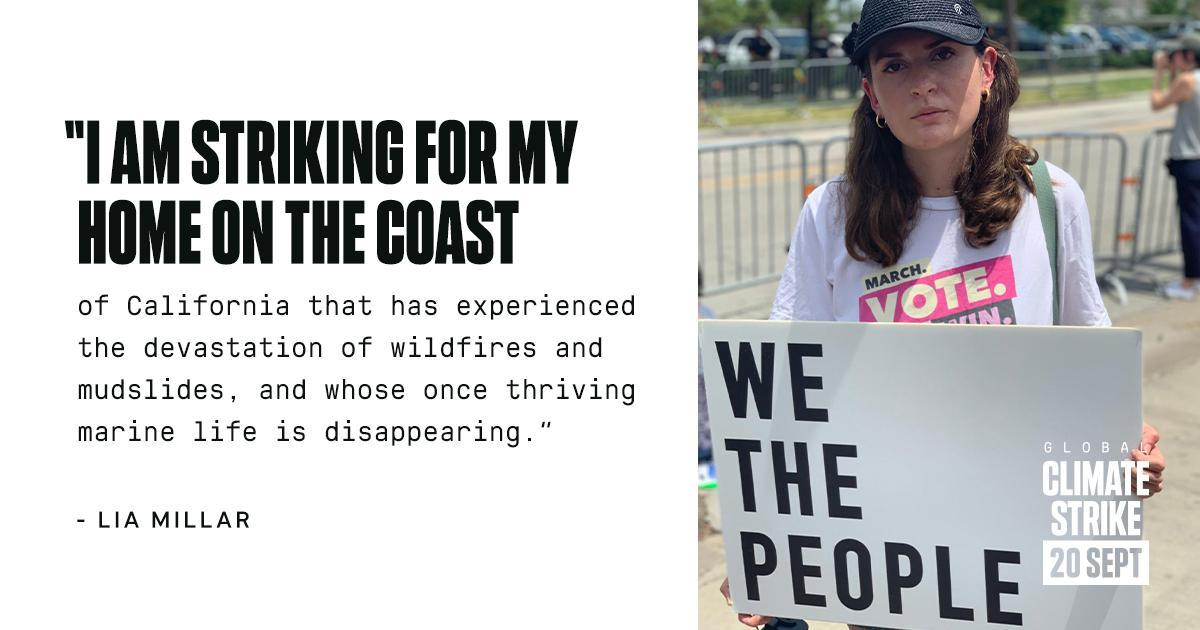 Lia Millar, Global Climate Strike, Sept. 20