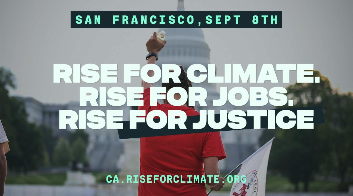 #RiseForClimate